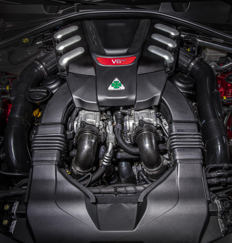 Alfa-Romeo Giulia Quadrifoglio motore