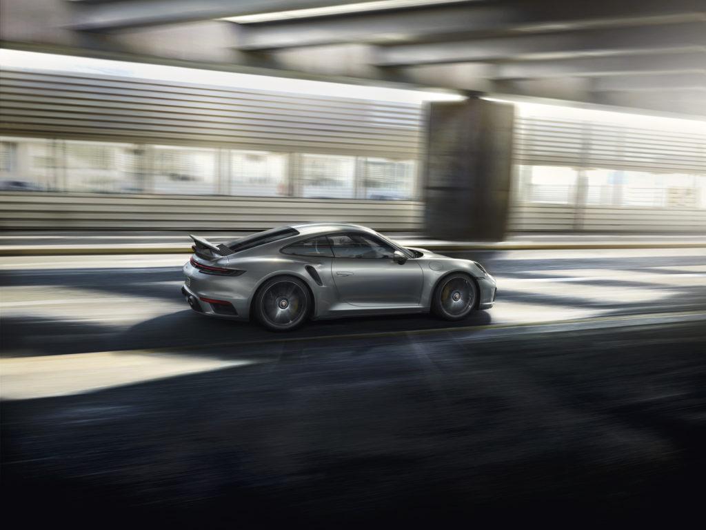 Porsche 911 Turbo S: posteriore laterale